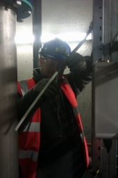 Managing Director Dan, stripping armoured cable
