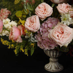 Urn , wedding table centrepiece