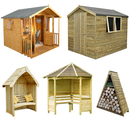 Some of our garden buildings and features