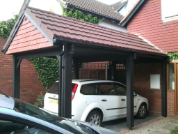 Lightweight Tiles on a carport.