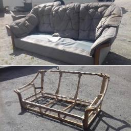 We strip down sofas to recycle them