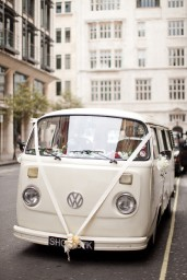 Buttercup Bus - white wedding campervan hire