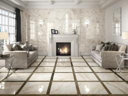 Calacatta Beige Marble Floor Tiles