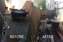 Jet Washing Decking in Tooting Bec