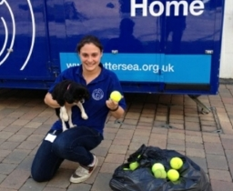 BigHeart celebrates giving 10,000 tennis balls to Battersea Dogs and Cats Home