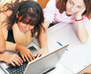 picture of students viewing computer screen