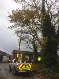 Using our Cherry Picker for ease......