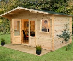 Nevis log cabin