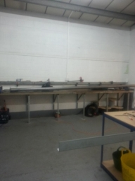 Guide and Barrel work for the Roller Shutter, Dace Print, Rotherham