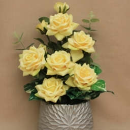 Artificial Flowers Yellow Roses