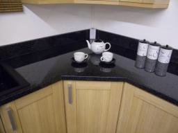 Astral Quarts laminate worktop in our showroom.