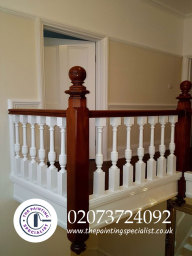 Finished Painted and Varnished Banister in London