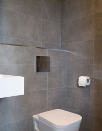 Ensuite Concrete Grey Tiles