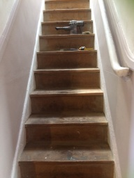 Stairs - before...