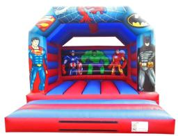 12.5 x 16ft Superhero Bouncy Castle