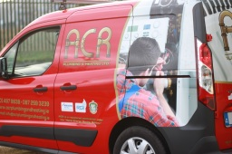 ACR Plumbing and Heating Van Side View