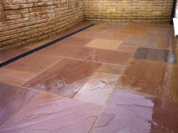 Indian Sandstone Patio. Welwyn