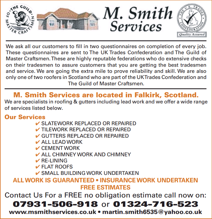 M Smith Services 15 Sunnyside Avenue Brightons Falkirk