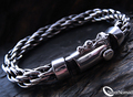 925 Sterling Silver Layered Loop Bracelet for Men by Silver Nomad Jewellery UK