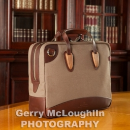 Brown Canvas Briefcase