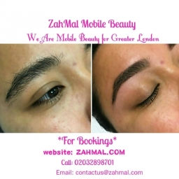 Facial, Eyebrow reshape and tint book now on zahmal.com