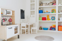 Garage Converted into Playroom