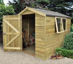 Premium 8 x 6 pressure-treated shed