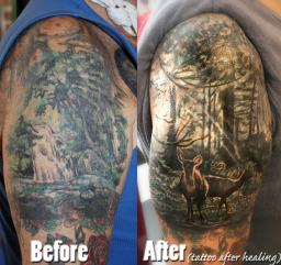 tattoo cover up ,Stotker Tattoo shop London