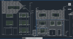 Measured Building Survey Front Elevation Plan