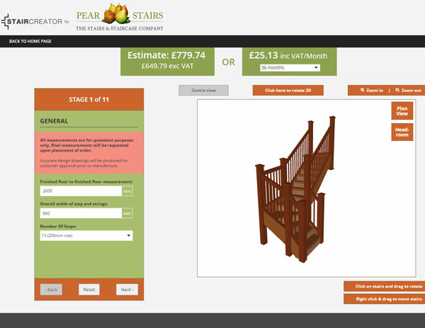 Pear Stairs In Mill Lane Welshpool Powys SY21 7BL
