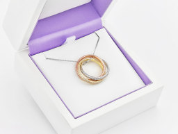 Russian Wedding Ring Set as Pendant