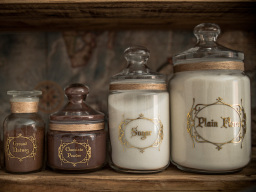 Apothecary Kitchen Storage jars and bottles