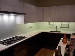 Complete glass kitchen splash backs