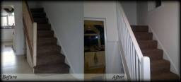 Striping and painting Balustrade