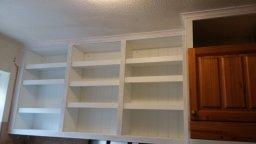 Bespoke kitchen shelves