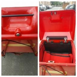 Post trolley with keys locked inside