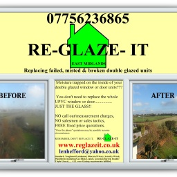 We specialise in replacing blown double glazing