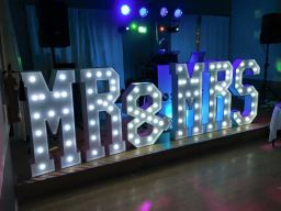 S.O.M. Photo Booth Hire Mr and Mrs Wedding Letters
