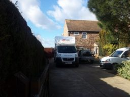 We had to hire in a van for this Removals in Hull
