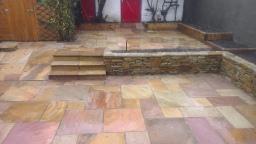 sandstone patio design Ballinteer