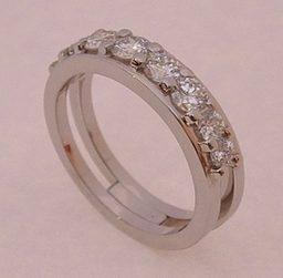 Platinum and Diamond Wedding ring Designed and Handmade by Phillip Godfrey