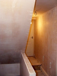 Plastering after loft conversion.