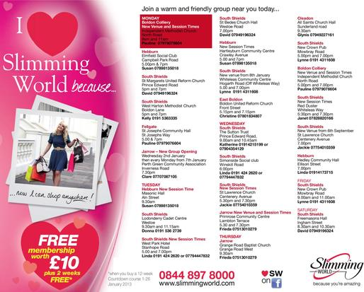 Slimming World in 11 Dowling Avenue, Whitley Bay, NE25 8RR ...