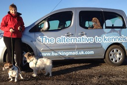 Barking Mad's owner Kerry Wells with her own dog's