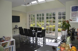 Orangery extension (from inside)