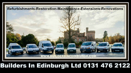 BUILDERS IN EDINBURGH COVERING CENTRAL SCOTLAND