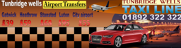 Tunbridge wells Airport taxi prices