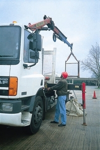 Hiab - Lorry Loader Crane - with Hook (Brick Grab also available)
