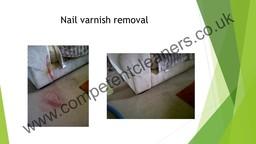 Nail varnish removal