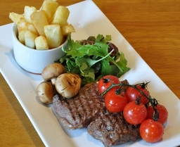 Locally sourced 8oz Ribeye steak - cooked how you like it